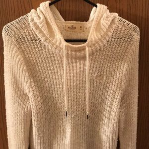 Hollister Hooded Knit Sweatshirt
